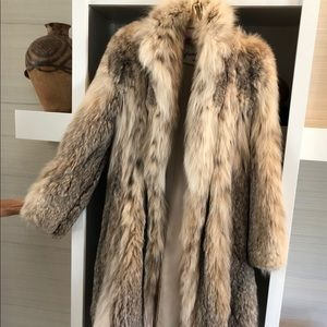 Jackets & Blazers - Lynx Fur Full length coat